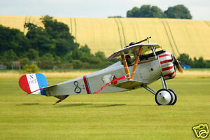 Giant 1/5 Scale French WW-I Nieuport 27 Biplane Plans,Templates,Instruction 60ws