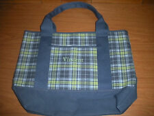"Pottery Barn Kids Blue Plaid Tote  ""Vincent""    *New*"