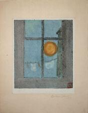 Betram Johnck/ Original, Signed Color Monoprint, 1926