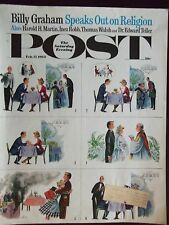 1962 Saturday Evening Post Cover Only But Can She Cook? by Constantin Alajalov
