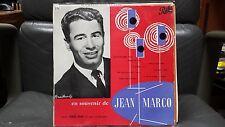 """Jean Marco - En souvenir de  - Vinyle 10"""" 25 cm VG++/EX AT 1054"""
