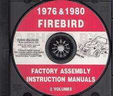 1976 and 1980 Firebird and Trans Am CD Assembly Manual 76-80 Pontiac Formula
