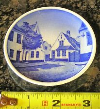 Denmark Blue & White Butter Pat Mini Plate #28/2010 V/egterpladesn Aabenraa