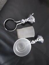 Design chrome Set Mug Holder and Soap Holder Toothbrush Mug Soap Dish