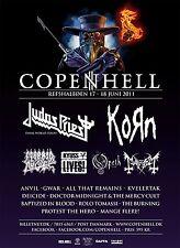 COPENHELL 2011 DENMARK CONCERT POSTER-Judas Priest,Korn,Morbid Angel,Kyuss,Opeth