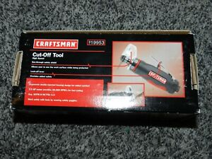 NIB CRAFTSMAN HIGH SPEED PNEUMATIC CUT-OFF TOOL SAW 919953 + 6 PIECE WHEEL SET