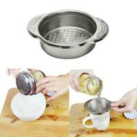 Stainless Steel Food Can Strainer Sieve Tuna Press Lid Oil Drainer Remover Hot
