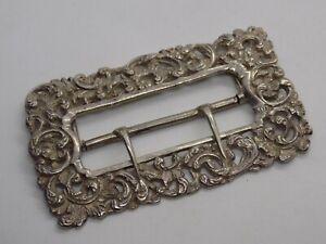 Antique/Victorian 800 Silver Belt Buckle. Full Hallmarks. 29.6 grams.