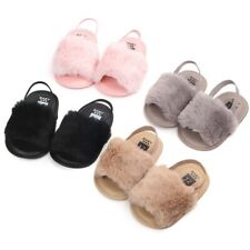 Infant Baby Girls Newborn Anti-slip Slippers Sandals Soft Sole Plush Crib Shoes