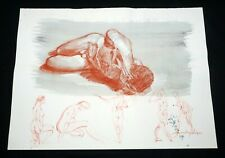 Hawaii Conte WC Wash Painting Contorted Male Nude by Snowden Hodges (Sho)#20