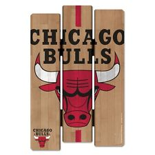 "CHICAGO BULLS FENCE WOOD SIGN 11""X17'' BRAND NEW FREE SHIPPING WINCRAFT"