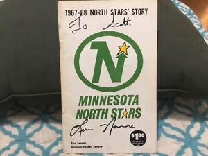 MINNESOTA NORTH STARS 1967/68 MEDIA GUIDE,INAUGRAL YR.,TO SCOTT SIGNED LOU NANNE