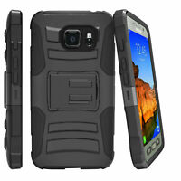 For Samsung Galaxy S7 Active G891A Protective Holster Clip Stand Black Case