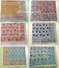Wholesale Lot 10 Pcs Indian Hand Block Print Women Scarf Handmade Cotton Sarong