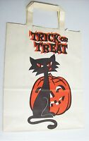 Vintage HALLOWEEN Trick or Treat Bag Sack - Black Cat & Jack O Lantern
