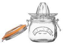 Kilner Lemon and Orange Juicer and Jar Set - Clear Glass - 500 ml