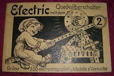 altes Electric-Anleitungsheft Nr. 2 für den Electric-Baukasten