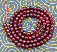"4MM Natural South America Garnet Smooth Gemstone Round Loose Beads 15"" Strand"