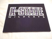 """K-STATE WILDCATS Wall Art - T-shirt Mounted onto 16""""x12"""" Artist Canvas"""