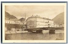 Autriche, Ischl, Hotel Kaiserin Elisabeth Vintage print. Tirage citrate  5x9