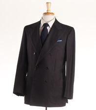 NWT $7995 KITON NAPOLI Dark Chocolate Brown Cashmere-Blend Suit 40 R (Eu 50)