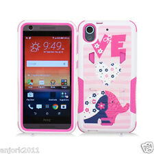For HTC Desire 626 / 626s / 530 Hybrid Case w/Stand Skin Cover Love Elephant