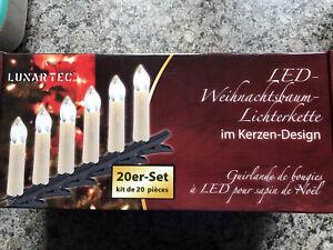 LUXARTEC LED Weihnachstbaumlichterkette 20 Kerzen 2 -NEU-