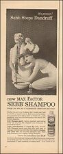 1957-Vintage ad for Sebb Shampoo`Pretty Model w/long hair/basin (022215)