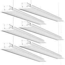 Sunco 6 Pack Flat LED Utility Shop Light 40W (300W) 5000K Daylight 4500 lm