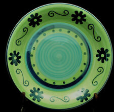 """Green / Blue Flowers by Mulberry DINNER PLATE 10 1/2"""""""