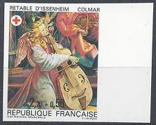 FRANCE CROIX ROUGE N°2392 TIMBRE NON DENTELÉ IMPERF 1985 NEUF ** MNH