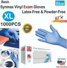 Basic 1000 Pcs Blue Vinyl Synmax Exam Gloves Latex Free Amp Powder Free Xl Size