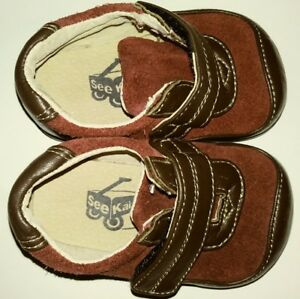 See Kai Run Brown and Maroon Shoes Toddler kids baby Size 3