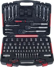 Garage Tool Kit 135 Piece Mechanics Auto Car Motorcycle Bikes Repair Case Set