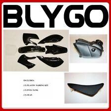 BK KLX110 Plastics Fairing Fender Kit Seat Fuel Tank 125cc PIT Dirt BigFoot Bike