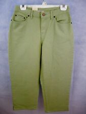 Bill Blass Green Cotton Denim Jeans Petite 4 Relaxed Fit