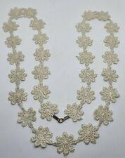 More details for rare antique lace crochet necklace/ collar.