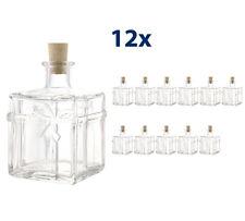 12 x 350ml Paket Weihnachtsflaschen Flaschen Schnapsflaschen leere Glasflaschen