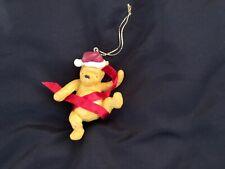 Classic Winnie the Pooh Ornament Santa & Red Ribbon Disney Midwest Cannon Falls