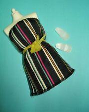 Vtg Barbie Superstar 80s Doll Clothes Fashion Extras Striped Dress 1984 4907