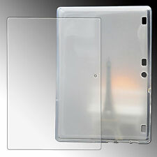 9H Panzerglas Folie+ Silikon Tasche Lenovo Tab 2 A10-70F/L 10.1 Crystal Case-TPU