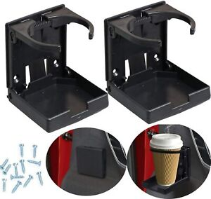 2 xUniversal Adjustable Car Van Folding Cup Holder Drink Holders Vehicle Boat