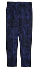 Burberry Prorsum Blue Black Trouser Pants Women Size 40 Made In Italy New