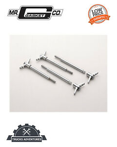Mr Gasket 9828 Chrome Valve Cover Wing Bolts