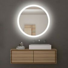 Round LED Mirror 580x580mm Decor Lighted Touch Switch Wall Mounted White Light