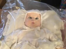 Atlantic Novelties Gerber Christening Baby Doll in Basket 1970's #I-465