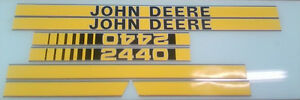 John Deere 2440 Hood Decals
