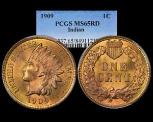 1909 INDIAN CENT ~ PCGS MS 65 RD BRIGHT RED!!