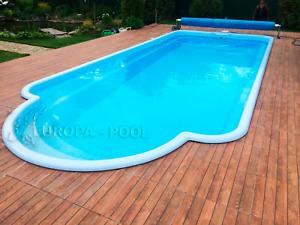 GFK Schwimmbecken Pool 7 x 3,2 x 1,5 Hersteller Einbaubecken Romische Treppen
