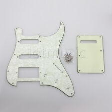 Pale Green Guitar Pickguard Back Plate Trem Cover,Screws fits Strat HSS